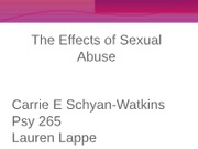 The Effects of Sexual Abuse