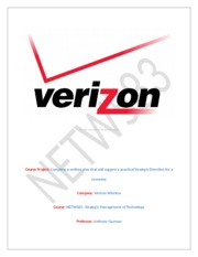 Course Project On Verizon Wireless