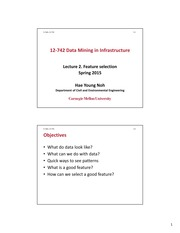 Lecture2_12-742 Data Mining in Infrastructure_Feature(1)