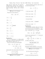 Calculus 408K Exam 2 Review