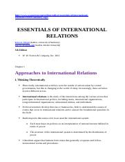 MINGST essentials of intl rltions sUMMARY
