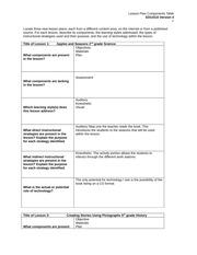 BobbyByron_LessonPlanComponentsTable.pdf - Lesson Plan Components ...