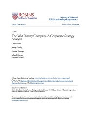 The Walt Disney Company_ A Corporate Strategy Analysis
