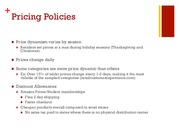 Pricing Policies Assignment