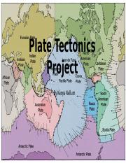 Plate Tectonics Project