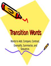 Transition Words.ppt