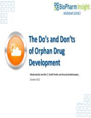 OrphanDrugsWebinar does and donts