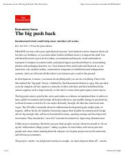 Economist, Big Push Back 2011