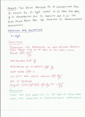 Dimensional Homogenity and Ideal Gas Law Examples