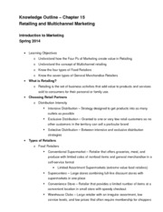 Chapter 15 Knowledge Outline