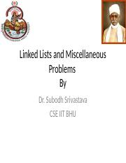 Linked Lists By Dr.S Srivastava (1).ppt