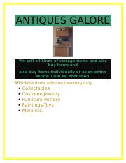Antiques Galore.docx