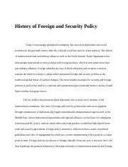 History of Foreign and Security Policy.docx
