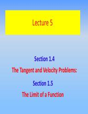 Lecture 5 (Section 1.4&1.5)