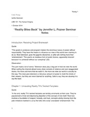 Reality Bites Back Seminar Notes