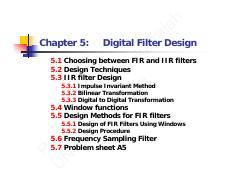 DSP8B pdf - h ja ira Digital Filter Design Pr U ofe N SW ss