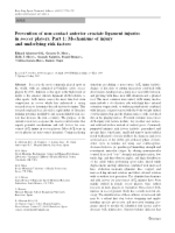 Prevention of non-contact anterior cruciate ligament injuries in soccer pla...
