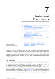 Chapter 7. Instrument Transformers