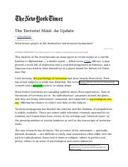 HLSS154_Wk1_The Terrorist Mind-Kershaw.doc