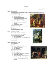 Lecture 4 notes, Art of the French Revolution and David