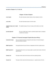 Glossary Words 15,17,18,25