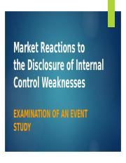 Market Reactions to the Disclosure of Internal Control.pptx