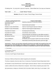 MAN 4720 Service Learning Project Bid Form Spring 2017 Team D