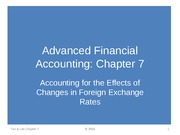 Chapter 7 -CONSOLIDATE foreign exchange rate (part 1)