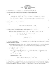Midterm Exam 2 Solution Spring 2006 on Ordinary Differential Equations