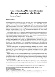 Maugeri - Understanding Oil Price Behavior through an Analysis of a Crisis