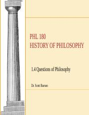 1.4 Questions of Philosophy