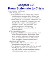 Chapter 19- From Stalemate to Crisis