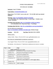 PSYCH 105 FALL 05 syllabiaddendum
