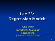 Lec33 Regression models Cond 2010