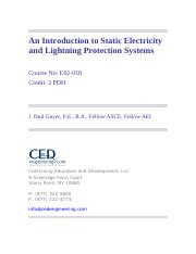 Intro to Lightning Static Electricity Protection Systems
