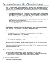 holmes community college course hero 3 pages essay assignment details arguing for causes and effects docx