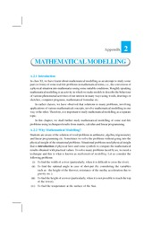 Appendix -2 Mathematical Modeling