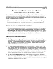 Global Poverty and Practice 115: Microfinance & Financialization of Poverty  Lecture Supplement 11