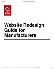 Website Redesign Guide for Manufacturers.pdf