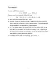practice question 2 (forecasting)