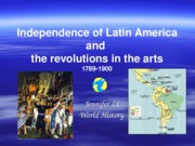 Independence of Latin America and the revolutions in