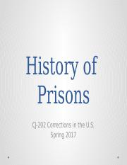 History of Prisons