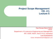 Project Scope Management (Lec-5)