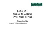 EECE 301 Differential Equations Review Notes