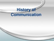 History of Communication Business and literacy 101 F2010
