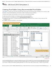 16 - Creating PivotTables Using Recommended PivotTables