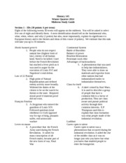Midterm study guide