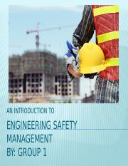 ENGINEERING SAFETY MANAGEMENT