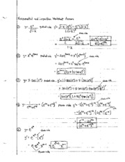 Exponential Logarithm Worksheet Solutions