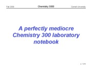 Chem 3000 -- Fall 2009 -- John Marohn -- Lecture 2 -- Keeping a Notebook